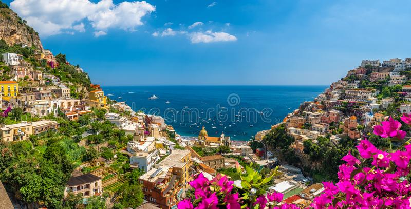 Landscape with Positano stock photography