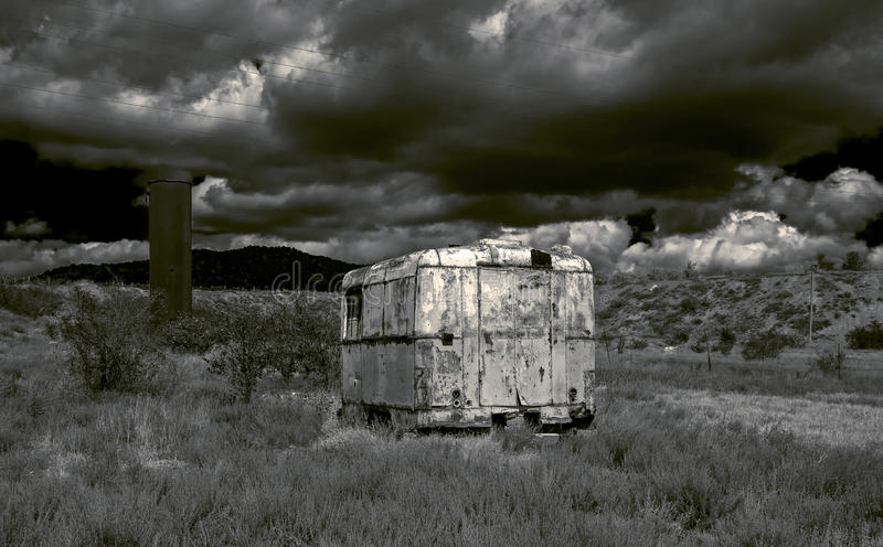 Landscape in a post-apocalyptic style. stock photography