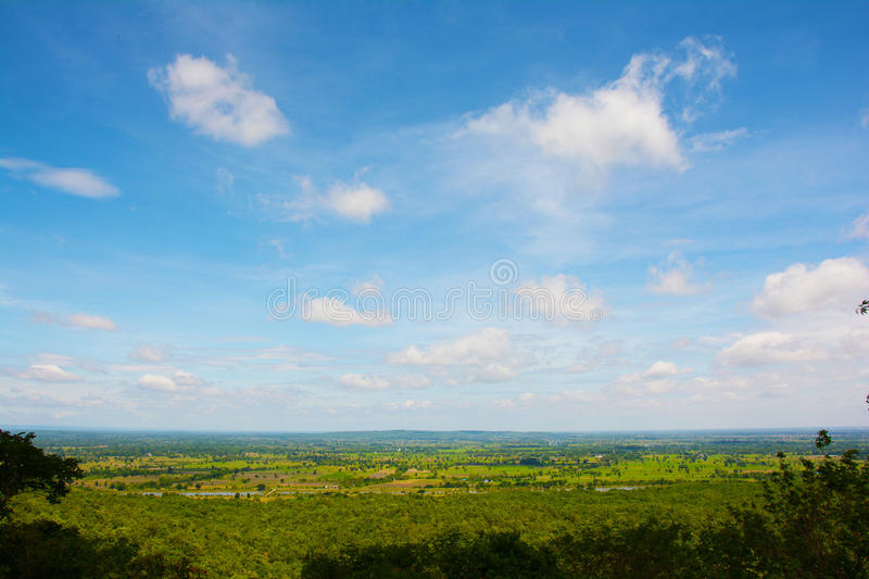 Landscape from Pranomrung mountain stock photography