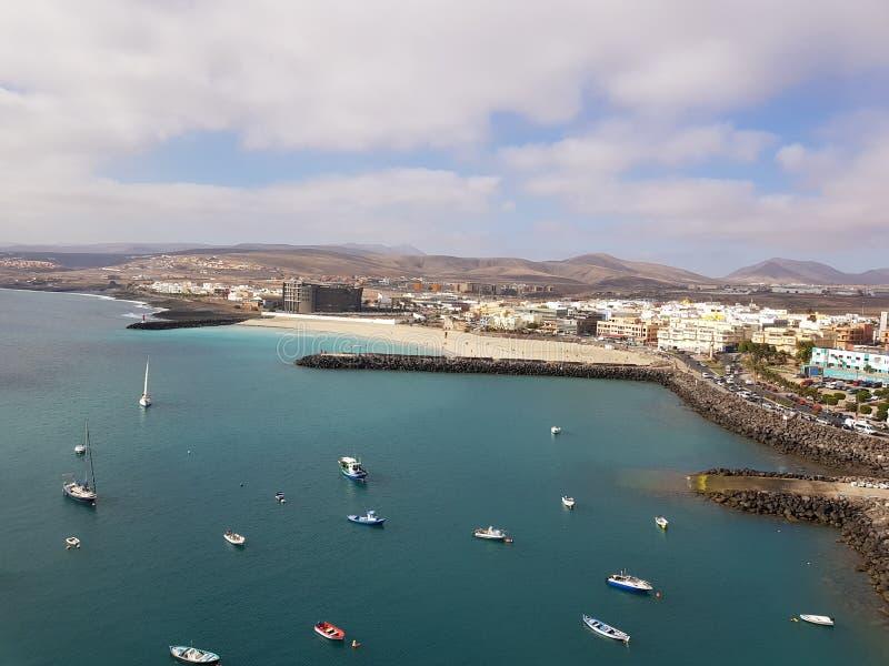 Puerto del Rosario Fuerteventura. Landscape of Puerto del Rosario Fuerteventura from the Perspective of the cruise Terminal royalty free stock photo