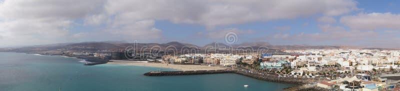 Puerto del Rosario Fuerteventura. Landscape of Puerto del Rosario Fuerteventura from the Perspective of the cruise Terminal stock images