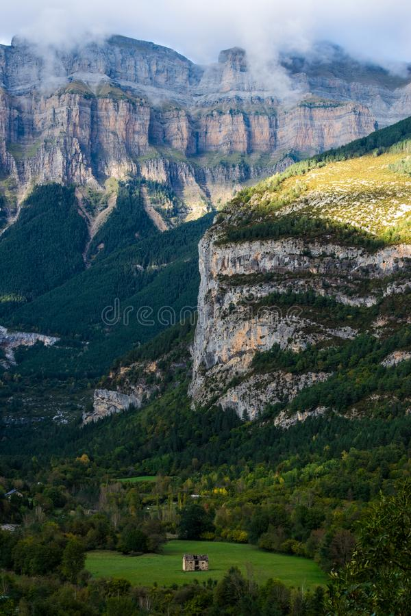 Landscape of Pyrenees, Spain stock photography