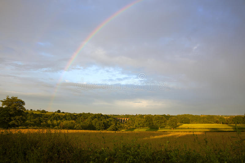 Download Landscape with rainbow stock photo. Image of weather - 14779446