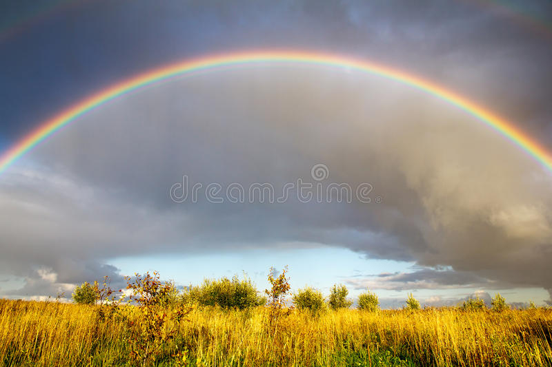 Download Landscape with rainbow stock image. Image of landscape - 26495221