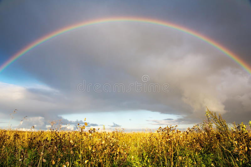 Download Landscape with rainbow stock image. Image of rainbow - 26495281