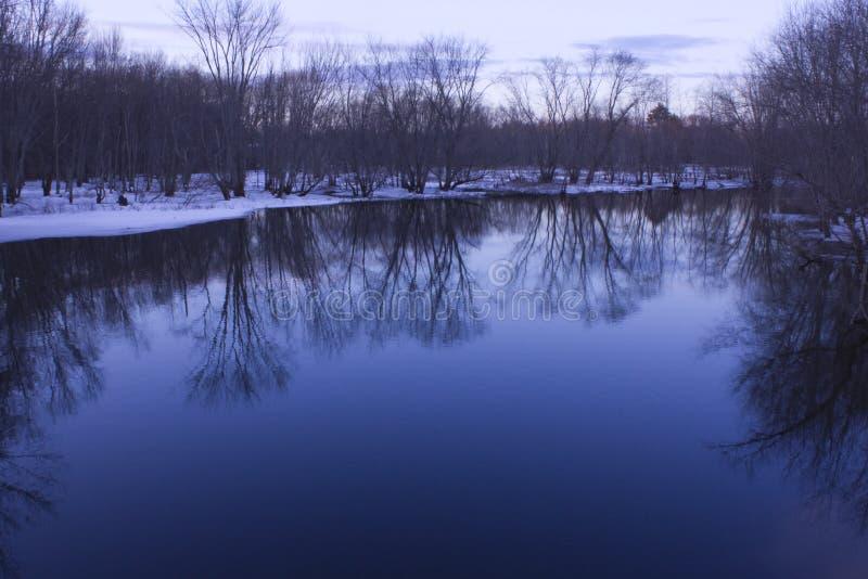 Landscape Reflection at North Bridge royalty free stock photography