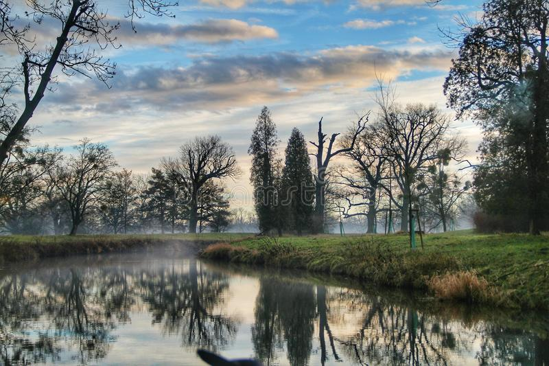 Landscape of River Forest stock image