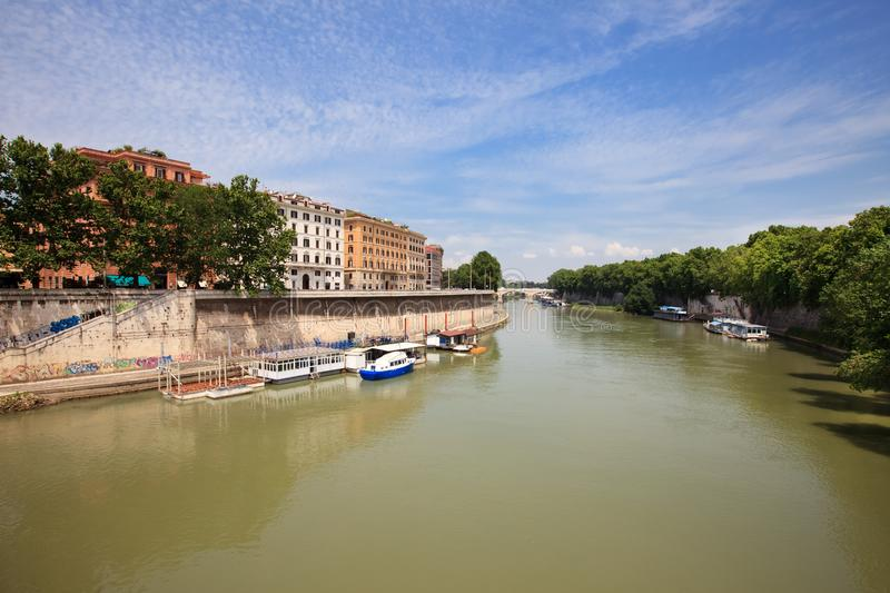 Download Landscape with river Tiber stock image. Image of culture - 20665697