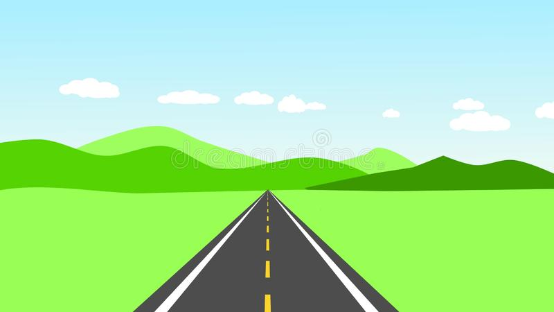 Landscape road. Auto way in nature royalty free illustration