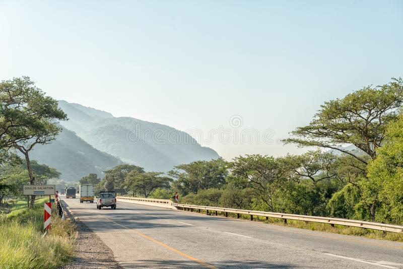 Landscape on road N4 between Nelspruit and Malalane. NELSPRUIT, SOUTH AFRICA - MAY 3, 2019: Landscape on road N4 between Nelspruit and Malalane in the Mpumalanga stock images