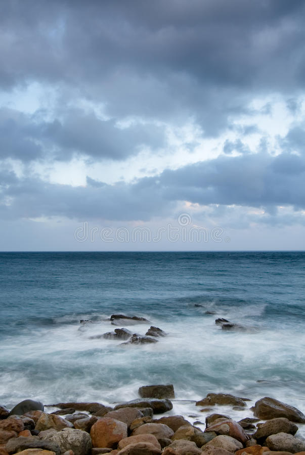Download Landscape Of Rock Coast And Beautiful Cloud Royalty Free Stock Photos - Image: 10248178