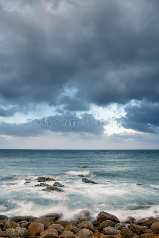 Download Landscape Of Rock Coast And Beautiful Cloud Stock Image - Image: 10347993
