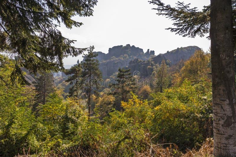 Landscape of Rock Formation Belogradchik Rocks, Bulgaria royalty free stock photography