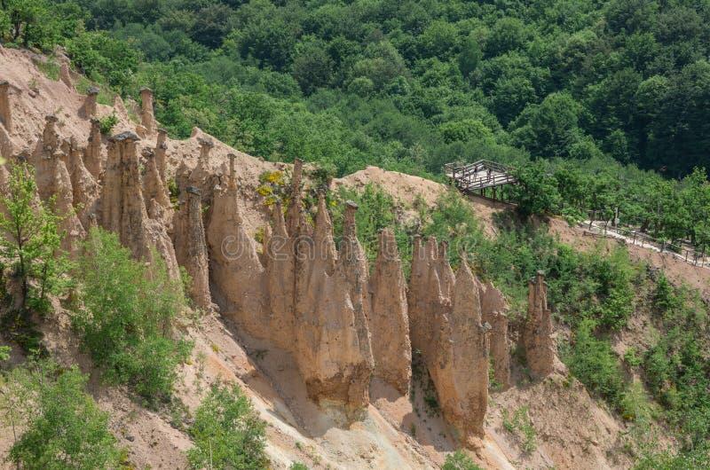Landscape of Rock Formation Djavolja Varos Devil`s town in the stock photos