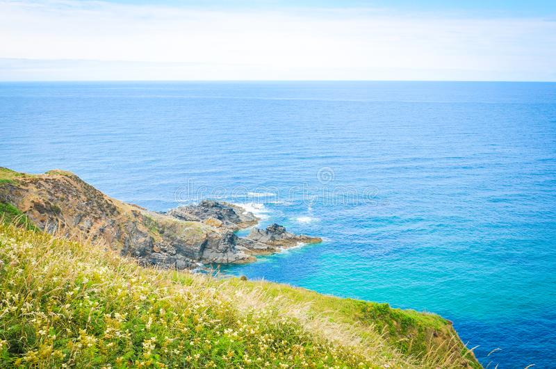 Landscape in Cornwall, England stock photo