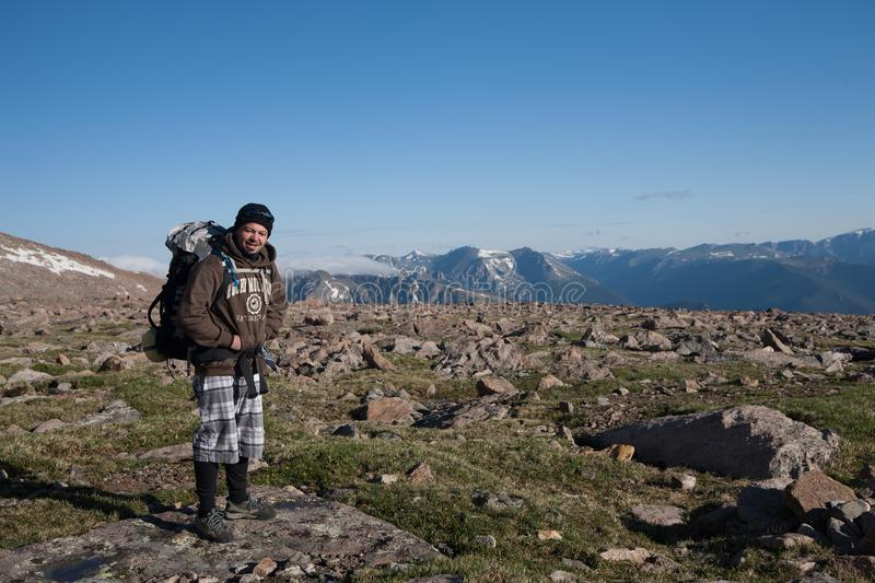 Rocky Mountains National Park, hiker royalty free stock images