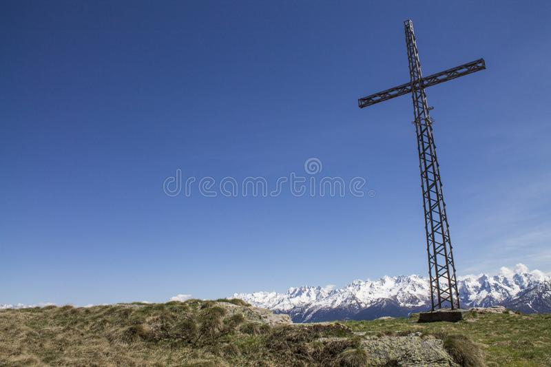 Landscape rood on a mountain. Background stock images