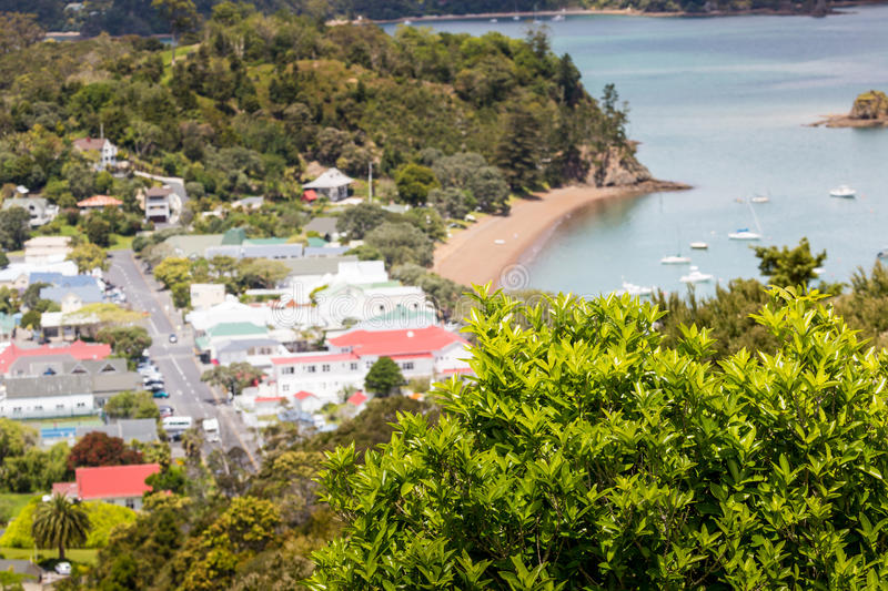 Landscape from Russell near Paihia, Bay of Islands, New Zealand.  stock photography
