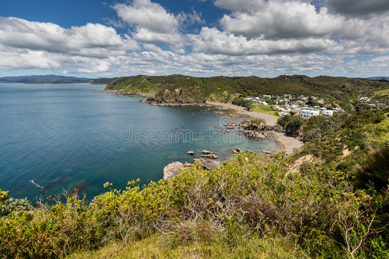 Landscape from Russell near Paihia, Bay of Islands, New Zealand.  royalty free stock photo