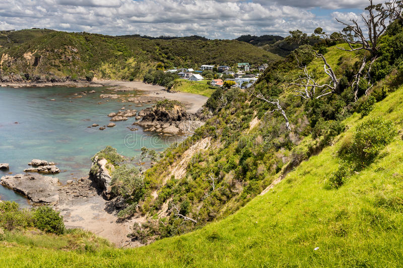 Landscape from Russell near Paihia, Bay of Islands, New Zealand.  royalty free stock images