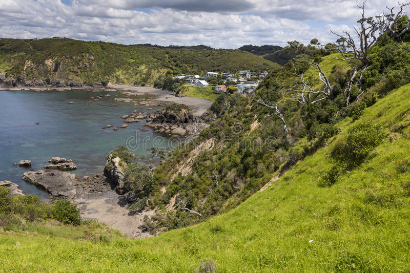 Landscape from Russell near Paihia, Bay of Islands, New Zealand.  royalty free stock image