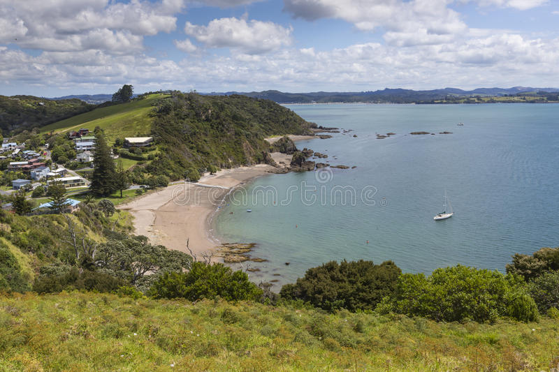 Landscape from Russell near Paihia, Bay of Islands, New Zealand.  royalty free stock photos