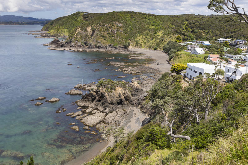 Landscape from Russell near Paihia, Bay of Islands, New Zealand.  royalty free stock photography