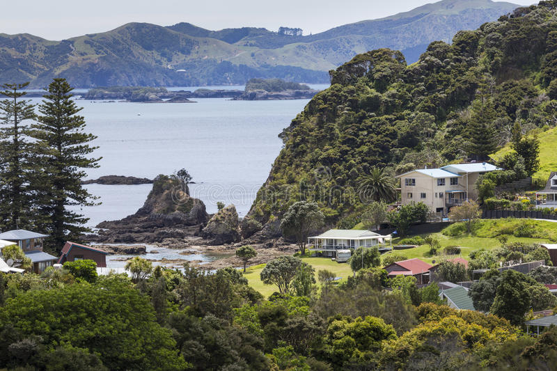 Landscape from Russell near Paihia, Bay of Islands, New Zealand.  stock images