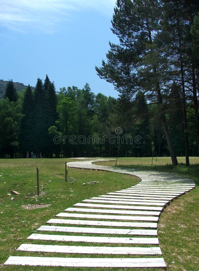 Landscape with S board path royalty free stock photos
