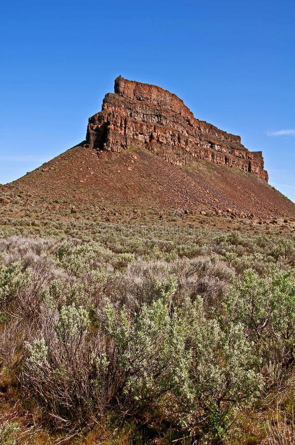Download Landscape Sagebrush And High Rocky Mountain Bluff Stock Photo - Image: 22434970