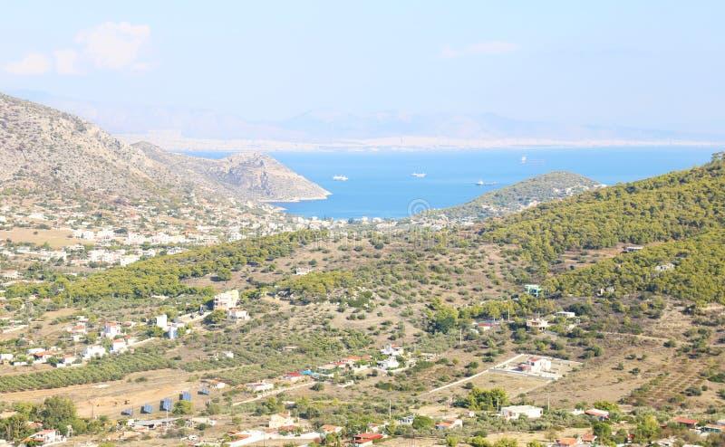 Landscape of Salamis island Greece stock photography