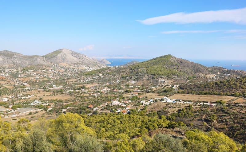 Landscape of Salamis island Saronic gulf Greece stock images