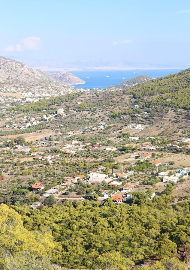 Landscape of Salamis island Greece stock images