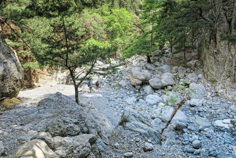 Landscape of Samaria Gorge in Crete Greece stock photos