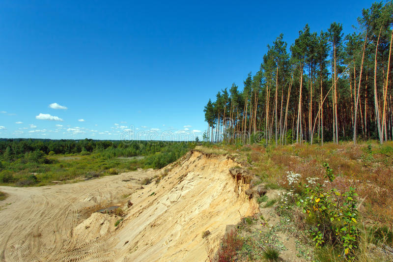 Landscape With Sandy Quarry Stock Images
