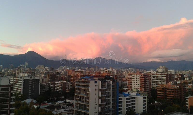 Landscape Santiago royalty free stock photo