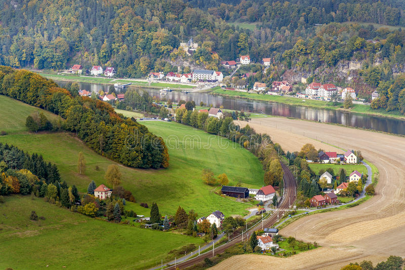 Landscape In Saxony With Elbe River Stock Image Image - Elbe river