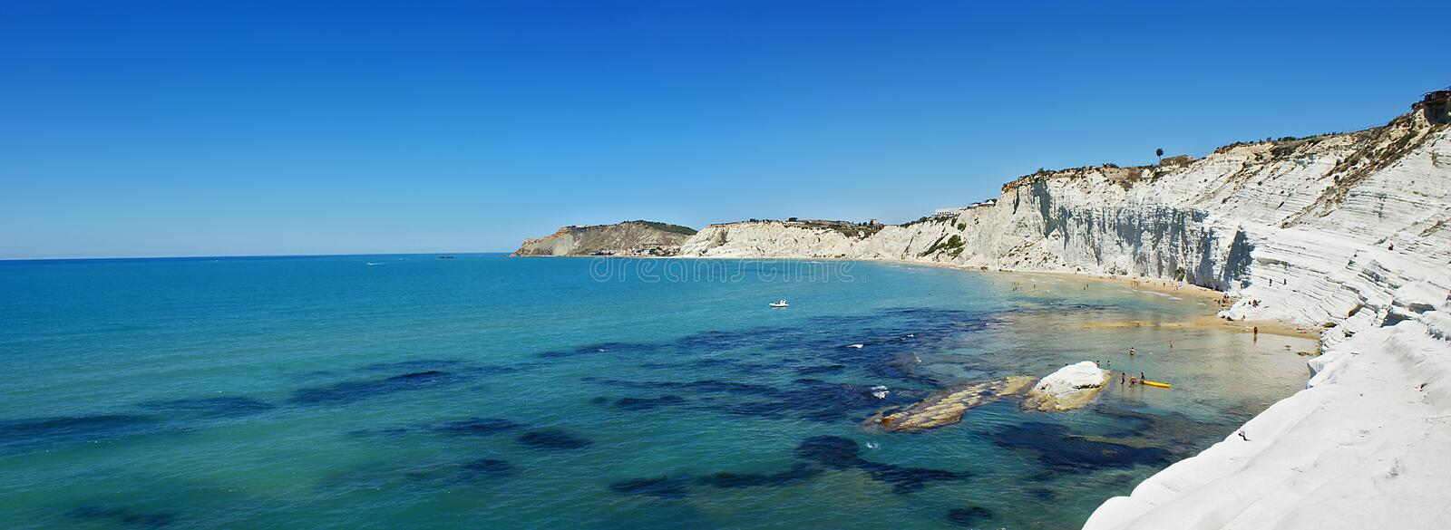 Landscape of Scala dei Turchi- Sicily. Landscape of Scala dei Turchi (Stair of the Turks) in the province of Agrigento (Sicily). This is a rocky cliff on the stock image