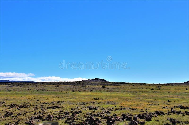 Landscape Scenery, Interstate 17, Phoenix to Flagstaff, Arizona, United States stock photos