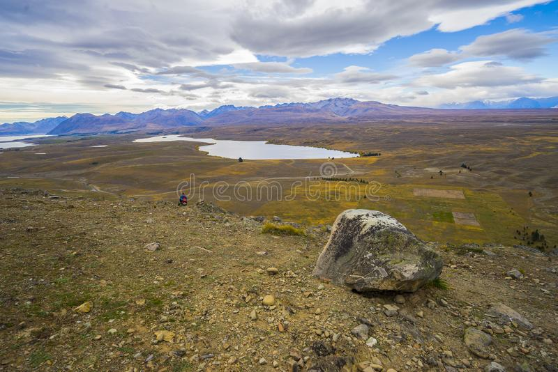 Landscape scenery of New Zealand during cloudy day. royalty free stock photography