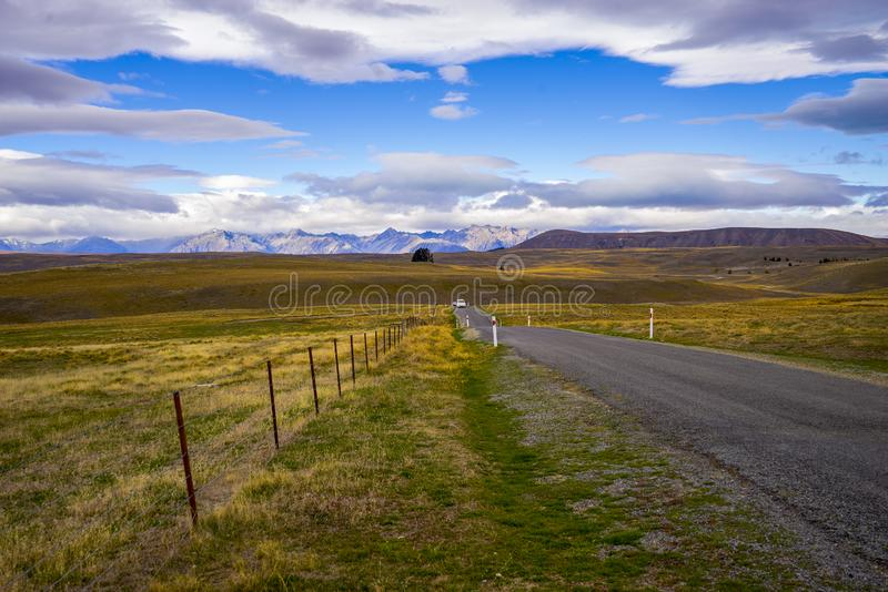 Landscape scenery of New Zealand during cloudy day. royalty free stock images