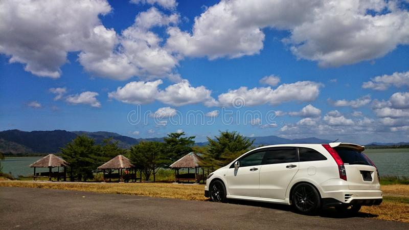 Sunny day at Timah Tasoh, Perlis, Malaysia stock images