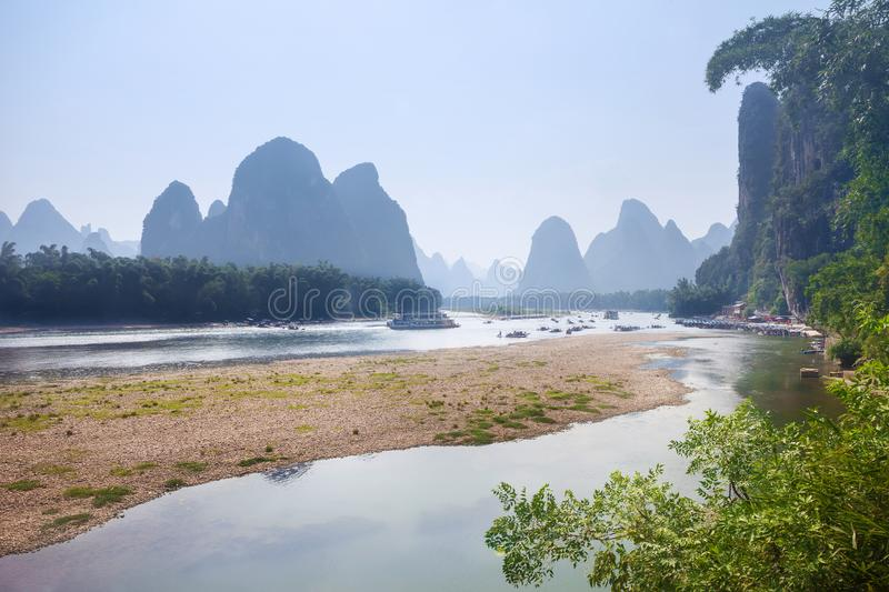 Landscape scenery of Yangshuo in Guilin royalty free stock images