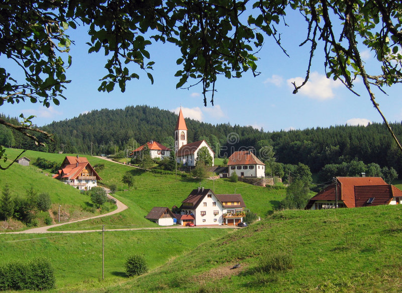 Landscape in Schwarzwald royalty free stock image