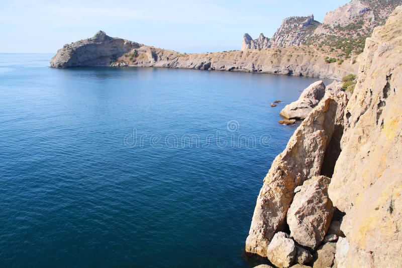 Landscape with sea and mountains royalty free stock images