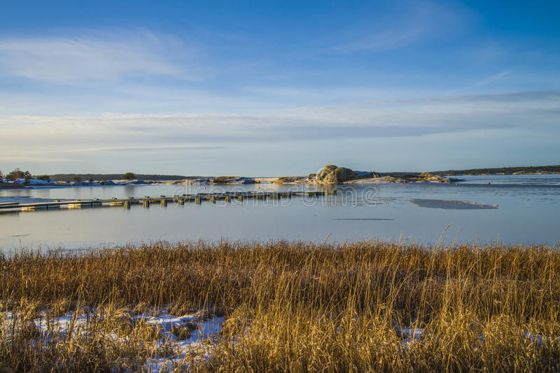 Download Landscape By The Sea In The Winter Stock Image - Image: 28427293