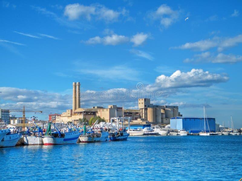 Landscape seaport. Monopoli. Apulia. royalty free stock photography