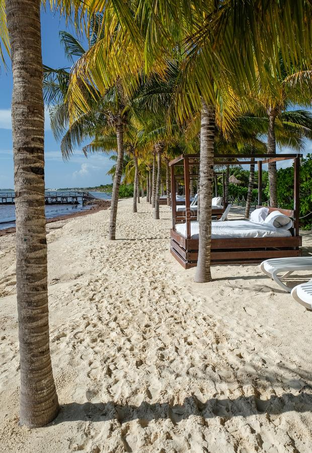 Playa Del Carmen beach, Mexico. stock images