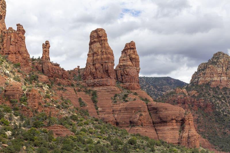 Landscape in Sedona, Arizona stock images