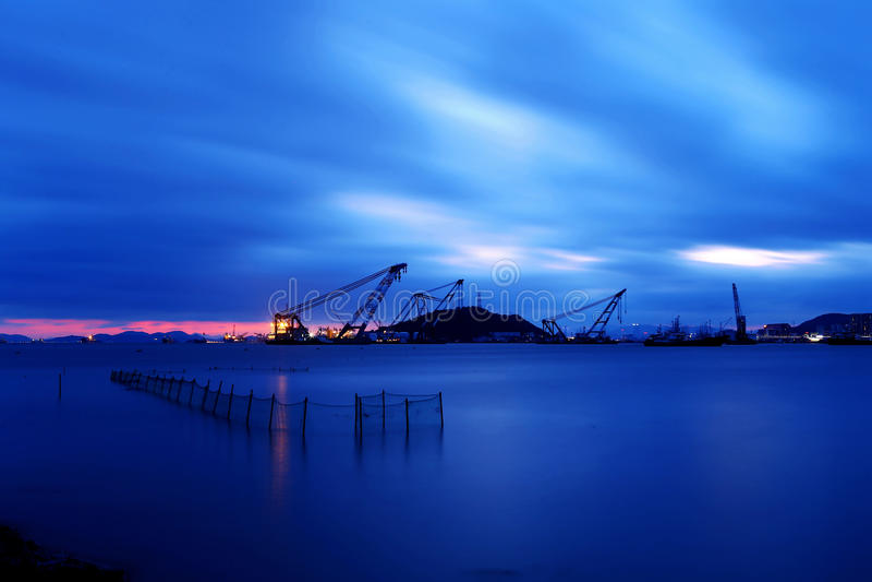 Landscape of Shenjiamen fishing port. Shenjiamen,a fishing port and seafood centernnLocated in the southeast of Zhoushan Archipelago, Shenjiamen, nicknamed Small royalty free stock images